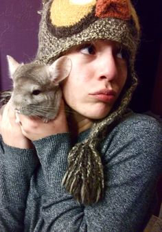 me and Chinnie, yes that's an owl beanie.