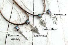 Boho ювелирные изделия ожерелья Хиппи-Племенной Arrowhead от AmysLeatherLane