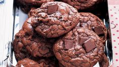 Don't bake these rich double-chocolate cookies to a crisp; they are meant to be soft and chewy.