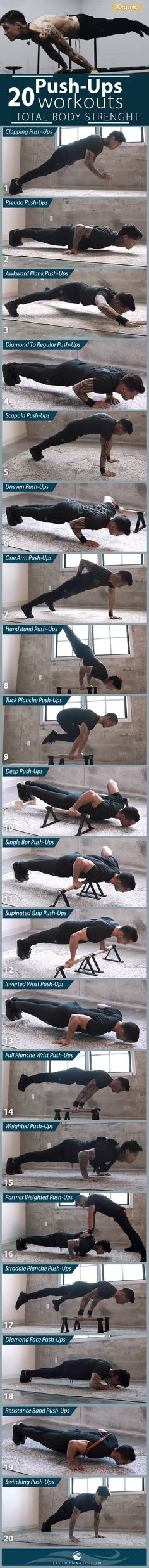 20 PUSH-UP VARIATIONS FOR MAKE TOTAL BODY STRENGTH. #fitness #fitnessmotivation #fitnessmodel #healthy #workout #workoutmotivation #exercisefitnesss #exercise, #healthyactivity, # naturalhealth