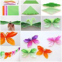 mariposas en papel