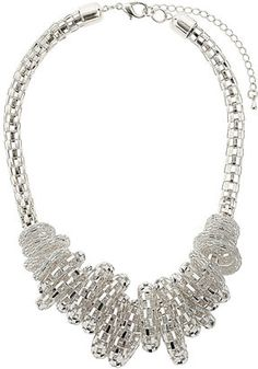 ShopStyle: Mesh Chain Rings Necklace