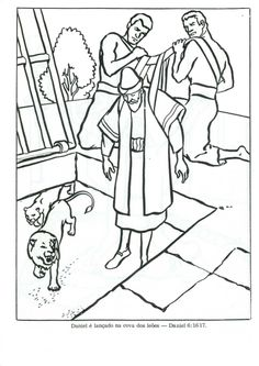 Daniel And The Lions, Bible Coloring Pages, Bible Covers, Sunday School Lessons, Bible Crafts, Old Testament, Bible Verses, Christian, School Ideas