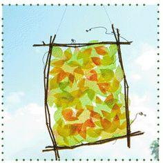 Cute Leaf Sun Catcher Craft