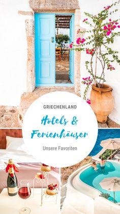 Griechenland Urlaubsorte • In diesen Unterkünften haben wir uns am wohlsten gefühlt ➤ Unsere Empfehlungen für schöne Hotels und Ferienhäuser auf den griechischen Inseln und dem Festland. Mehr Infos für deinen Urlaub in Griechenland gibt es auf unserem Blog greece-moments.com