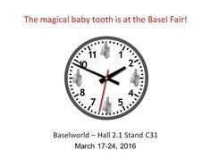 Meet the magic at Basel Fair 2016 www.preciousbabytooth.com #Bambino #Basel2016