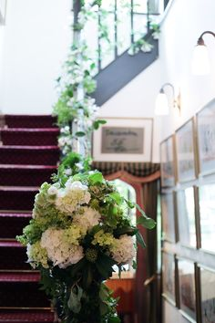 新郎新婦様からのメール 初夏の装花 松濤レストラン様へ ジャスミンの階段装花 : 一会 ウエディングの花