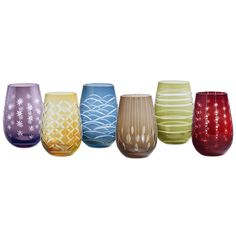 Shop our Fiesta Stemless Wine Glasses Set of 6 Only at IWA Wine Accessories! Japanese Rice Wine, Wine Down Wednesday, Stemless Wine Glasses, Sauvignon Blanc, Wine Drinks, Colored Glass, Wine Tasting, Im Not Perfect, Flutes