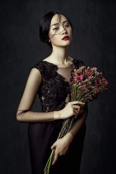 ❀ Flower Maiden Fantasy ❀ beautiful photography of women and flowers - Zhang Jingna Darkness with a hint of compassion