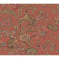 8 in. x 10 in. Orange Jewel Tone Belize Wallpaper Sample-WC1280003S at The Home Depot