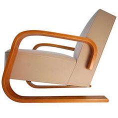 Early Alvar Aalto Tank Lounge Chair