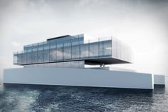 Ever have trouble remembering which yacht is yours after a night out in Monaco? That won't be a problem with the Lujac Desautel Glass Yacht.