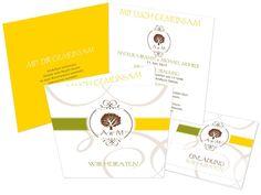 Hochzeitseinladungskarten - Sign of love - Baum