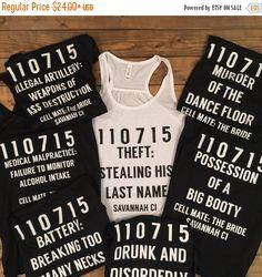 LAST CHANCE SALE Criminal bridesmaidbridesmaid shirts by LineLiam