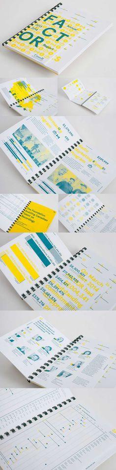 yellow creative annual report design