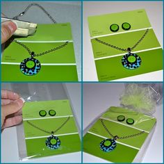 Jennifer W., look at these cute jewelry display cards. Jewellery Storage, Jewellery Display, Jewelry Organization, Necklace Storage, Necklace Holder, Karten Display, Paint Chip Cards, Craft Font, Jewellery Advertising