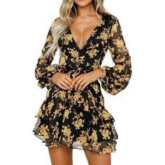 TWGONE Aline Dresses for Women Sleeveless V-Neck Vintage Dot Print Summer Beach Dress