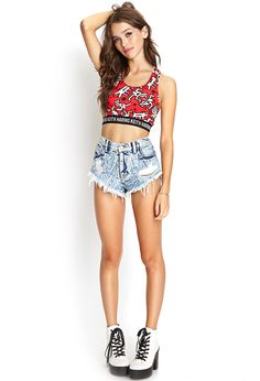 Keith Haring Crop Top   FOREVER21 - 2000069246