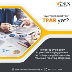Have you lodged your TPAR yet? Let us help you guide quickly to meet your reporting obligations.  For more details, please call us on 📞 +61 2 7202 6914  #VenusAccountants #TPAR #TaxablePaymentsAnnualReport #Taxation #OutsourceAccountingService #TaxationServices #OffshoreAccounting #AccountingFirm #Australia Accounting Services, Growing Your Business, Meet You, Venus, Australia, Let It Be, Venus Symbol