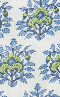rikshaw design Bombay fabric hand blocked $44 a yd.
