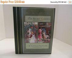 ON SALE The Secret Garden - A Little Princess - Two Books in one. by CellarDeals on Etsy