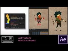 How to use RainBox's DUIK tools and AutoRigger tools in After Effects to quickly rig and test a character for keyframe animation. After Effect Tutorial, After Effects, Animation Film, Motion Design, Motion Graphics, Youtube, Character Design, Facts, Make It Yourself