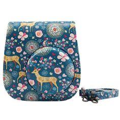 Fujifilm Instax Mini 8 Case - Katia Pu Leather Instax Mini 8 Camera Case Bag - Instax Mini 8 Case with Shoulder Strap and Pocket (Deer)