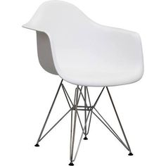 LexMod Paris Dining Armchair in White