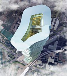 These are the ambitious plans which suggest skyscrapers of the future may house an entire city. The Endless City project is an award-winning proposal by sure Architecture, who propose turning skyscrapers into complete ecosystems. London is the proposed city for the mixed-use tower – which would feature huge ramps linking different sections of the structure. The company, whose design won the SkyScrapers and SuperSkyScrapers Competition, insist the structure would be a great space-saver in…