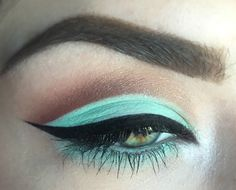 """User titsnsass's """"cut creases... mint green and warm browns in my [eotd]! CCW (using all makeup geek shadows)"""" - Imgur"""