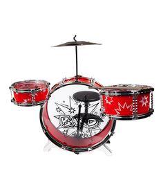 Look at this #zulilyfind! Red Big Band Drum Set #zulilyfinds