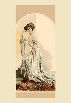 A Lady of Distinction 12x18 Giclee on canvas