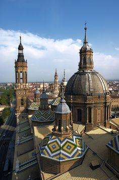 Zaragoza, Spain. Basilica de Nuestra Senora del Pillar.