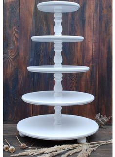 Wedding 5 tier Cake Stand Cupcake Stand Wooden White Wedding Cupcake stand Custom Cupcake Stand Wood Distress Cupcake Wedding, Stand for Cupcakes, Handmade cake stand White Wedding Cupcakes, Cupcake Stand Wedding, White Cupcakes, Custom Cupcakes, Floral Wedding Cakes, Wedding Cake Stands, Wedding Table, Wedding Ideas, Floral Cake