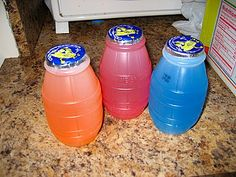Little Hug Juice Barrels - I remember having these at school and my baby-sitter's house when I was a kid - they tasted like melted Popsicles. #90s kid
