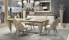 Orion Collection www.turri.it Luxury dining room furniture #luxury #luxuryfurniture #diningroom #luxuryhome #madeinitaly #homedesign #interiordesign