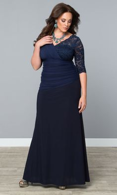 Soiree Evening Gown - Nocturnal Navy Trendy Curvy | Plus Size Fashion | Fashionista | Shop online at www.curvaliciousclothes.com TAKE 15% OFF Use code: SVE15 at checkout