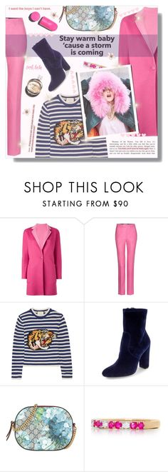 """""""Senza titolo #933"""" by francescar ❤ liked on Polyvore featuring MaxMara, Gucci, Steve Madden, Belk & Co., Chanel and Hermès"""