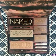 Urban Decay Naked Vault Brand New!!! Never Used/Opened! In Box!  All 3 of the best selling Naked palletes, 3 double ended eye liners to match, Naked Flushed in 3 different shades and 3 Naked lip glosses. ?? No Trades/Lowball ?? Urban Decay Makeup