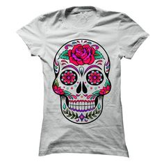 Sugar Skull T Shirts, Hoodies. Check price ==► https://www.sunfrog.com/Holidays/Sugar-Skull-69879632-Ladies.html?41382