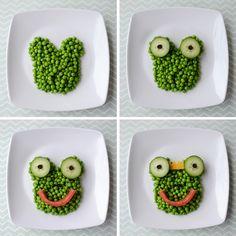 Frog prince snack   Food art for kids. HEALTHY FOOD FOR HEALTHY KIDS