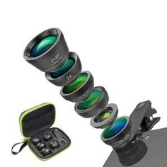 APEXEL Universal 6 in 1 Phone Camera Lens Fish Eye Lens Wide Angle macro Lens CPL/Star Filter tele for almost all smartphones – Online Mall Outlets All Iphones, All Smartphones, Phone Lens, Camera Lens, Camera Phone, Smartphone Features, Light Leak, Types Of Cameras, New Gadgets