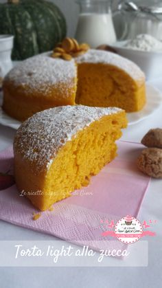 Ciao a tutti! Che dire? AMO LA ZUCCA e sono innamorata della zucca Delica, una qualità dolcissima e che cuoce molto in fretta, perfetta per me che voglio f Easy Delicious Recipes, Sweet Recipes, Cake Recipes, Sweet Light, Salad Cake, Low Fat Desserts, Fairy Food, Torte Cake, Yogurt Cake