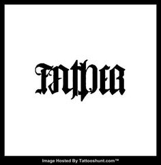 Mother / Father Ambigram Tattoo Design Ambigram Tattoo Designs at ...