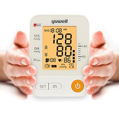 yuwell Automatic Blood Pressure Soft Sector Upper Arm Cuff Monitor Portable Digital Machines with Voice Function  IHB Indicator  Largescale LCD Adjustable Upper Arm Cuff 87  177 inch * For more information, visit image link.
