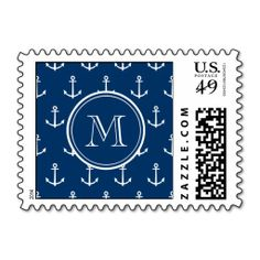 =>Sale on          	Navy Blue White Anchors Pattern, Your Monogram Stamp           	Navy Blue White Anchors Pattern, Your Monogram Stamp This site is will advise you where to buyThis Deals          	Navy Blue White Anchors Pattern, Your Monogram Stamp Online Secure Check out Quick and Easy...Cleck Hot Deals >>> http://www.zazzle.com/navy_blue_white_anchors_pattern_your_monogram_postage-172859066841570867?rf=238627982471231924&zbar=1&tc=terrest