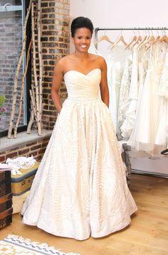 Real Bride Tonya in a Watters dress