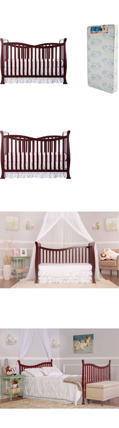 Baby Nursery: Convertible Baby Crib Nursery Bedding Furniture Toddler Bed Mattress Bonus 7 In1 -> BUY IT NOW ONLY: $138.14 on eBay!