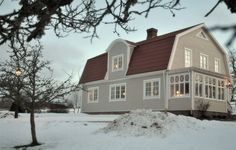 Swedish Farmhouse, Swedish Cottage, Swedish House, This Old House, House In The Woods, Scandinavian Home, Nordic Home, Style At Home, Home Focus