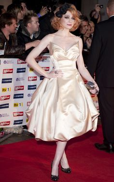 A variation on the carrie Bradshaw wedding frock from Vivienne Westwood as worn by Nicola Roberts.  Google Image Result for http://www.aolcdn.com/photogalleryassets/mydailyuk/995786/nicola-roberts.jpg